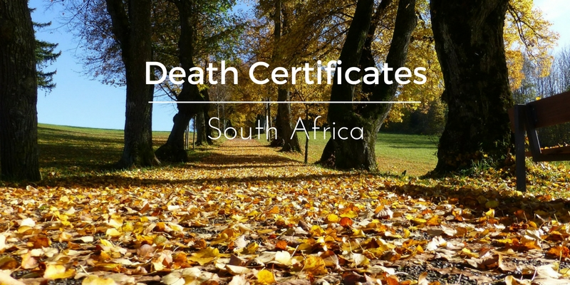 Death certificates South Africa