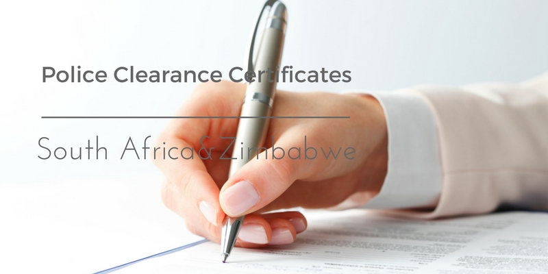 Police clearance certificate south africa