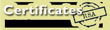 Certificates RSA